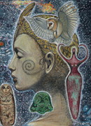 Archeology Paintings - Bird Goddess by Jane Ward