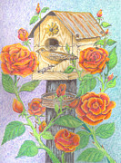 Blooms Pastels - Bird House by David Gallagher