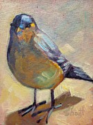 Donna Shortt Painting Posters - Bird Left Poster by Donna Shortt