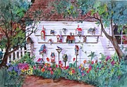 Shed Paintings - Bird Lover Shed by Sherri Crabtree