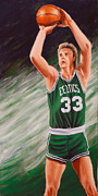 Larry Bird Painting Metal Prints - Bird Metal Print by Marlon Huynh