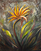 Gina Gray Paintings - Bird of Paradise 63 by Gina De Gorna