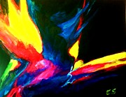 Bird Of Paradise Drawings - Bird of Paradise Abstract by Eric  Schiabor
