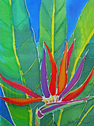 Floral Tapestries - Textiles - Bird of Paradise by Kelly  ZumBerge