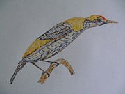 Wings Artwork Mixed Media Prints - Bird On A Limb Print by Jan Rotz