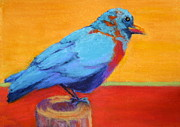 Nancy Jolley Art - Bird on a Post by Nancy Jolley