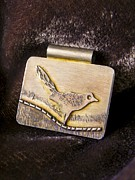 Sterling Silver Art - Bird on a Wire by Patricia  Tierney