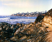 Most Mixed Media Originals - Bird Rock Shore by Glenn McNary