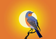 Air Born Prints - Bird Scenic Print by Shashwat Kumar Bhoi