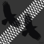 Grey Originals - Bird Shadow and Tread by Tony Rubino
