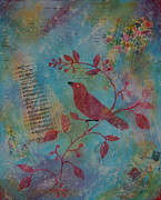 Song Mixed Media Originals - Bird Song by Tamyra Crossley