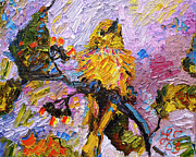 Ginette Fine Art LLC Ginette Callaway - Bird Yellow Warbler Oil Painting
