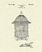 Cage Drawings - Birdcage 1926 Patent Art by Prior Art Design