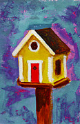 Patio Prints - Birdhouse III Print by Patricia Awapara