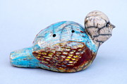 Reptiles Ceramics Prints - Birdman Whistle Print by Chip VanderWier