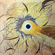 Yellow Beak Paintings - Birds Eye by Ruth Jamieson