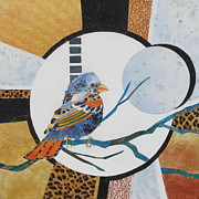 Leopard Print Paintings - Birds Eye View by Deborah Ronglien