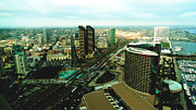 Urban Scenes Prints - Birds Eye View of San Diego Print by Nina Prommer