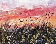 Richard Jules - Birds in Wheatfield