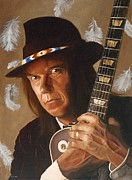 Neil Young Painting Posters - Birds Poster by Jena Rockwood