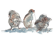 Kathleen Prints - Birds Just Wondering Print by Kathleen McElwaine