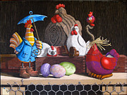 Dave Pastels - Birds Of A Feather by David Francis