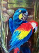 Texas Painter Posters - Birds of a Feather Poster by Sandra Cutrer