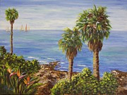 Birds Of Paradise By The Sea Print by Maic Palmieri