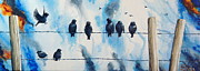 Shiela Gosselin - Birds on Barbed Wire