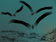 Flight Digital Art - Birds on Wing by Mark Weller
