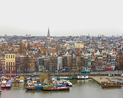 Patricia Hofmeester Metal Prints - Birds view on Amsterdam Metal Print by Patricia Hofmeester