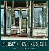Barrels Framed Prints - Birdseye General Store Framed Print by Julie Dant