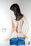 Undressing Paintings - Birgit by Sylvie Proidl
