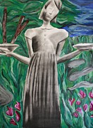 Historic Statue Mixed Media Posters - Birl Girl Poster by Rebecca Schoof