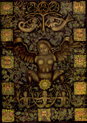 Goddess Birth Art Prints - Birth of the Greenman Print by Diana Perfect