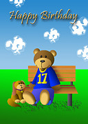 Jeanette K - Birthday Bear and Dog