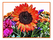 Birthday Bouquet Print by Joan  Minchak