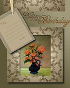 Happy Birthday Wish Framed Prints - Birthday Card Framed Print by Shahzad Khan
