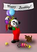 Tennis Racket Digital Art - Birthday Panda by Jeanette K