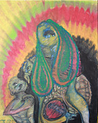 Alien Pastels - Birthing by Maria Weeks