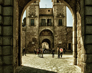 Arab Framed Prints - Bisagra Gate and Courtyard Framed Print by Joan Carroll