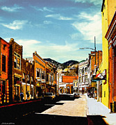 Silver Turquoise Art - Bisbee Arizona Painting by Nadine and Bob Johnston