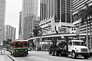 Bus Pyrography Framed Prints - Biscayne North Bus Framed Print by Eyzen Medina