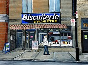 Wellington Street Paintings - Biscuiterie Sylvestre Verdun by Reb Frost