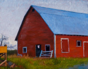 Farm Art - Bishop Barn by Stacey Neumiller