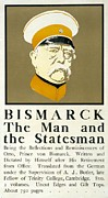 Illustrator Framed Prints - Bismarck The Man and the Statesman Poster showing portrait bust of Otto von Bismarck German state Framed Print by Edward Penfield