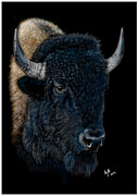 Bison Digital Art - Bison by Andrew  Hull