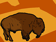 Bison Digital Art - Bison by Jonathan Larson