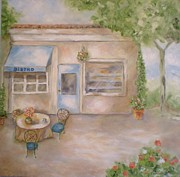 Bistro Paintings - Bistro by Graciela Castro
