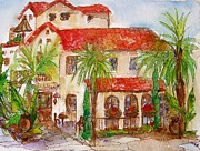 Famous Hotel Paintings - Bistro- Laguna Beach by Michelle Gonzalez